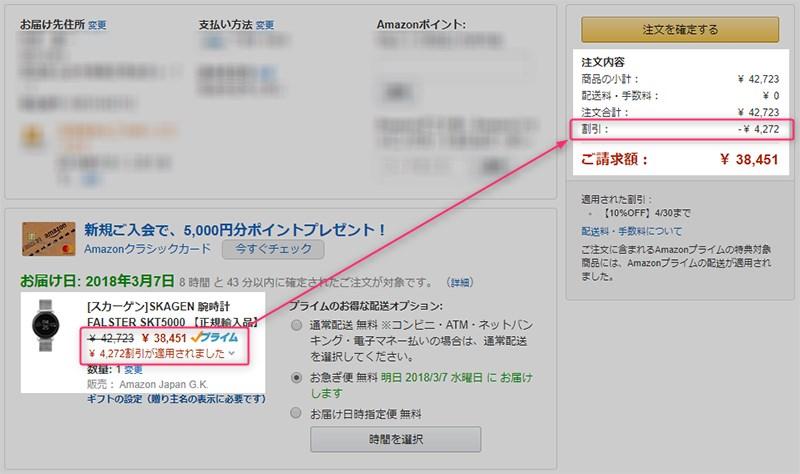 Amazon.co.jp SKAGEN Falster 購入費用