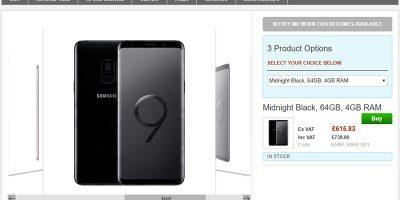 Clove Samsung Galaxy S9 商品ページ