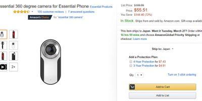 Amazon.com Essential 360 degree Camera 商品ページ