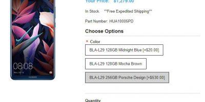 1ShopMobile.com PORSCHE DESIGN Huawei Mate 10 商品ページ