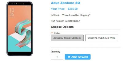 1ShopMobile.com ASUS ZenFone 5Q 商品ページ