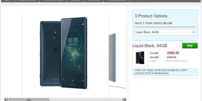 Clove Sony Xperia XZ2 商品ページ