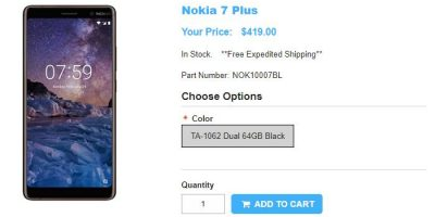 1ShopMobile.com Nokia 7 Plus 商品ページ