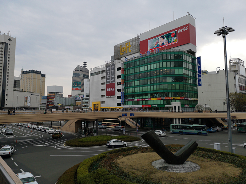 Huawei P20 Proで撮影した仙台駅前