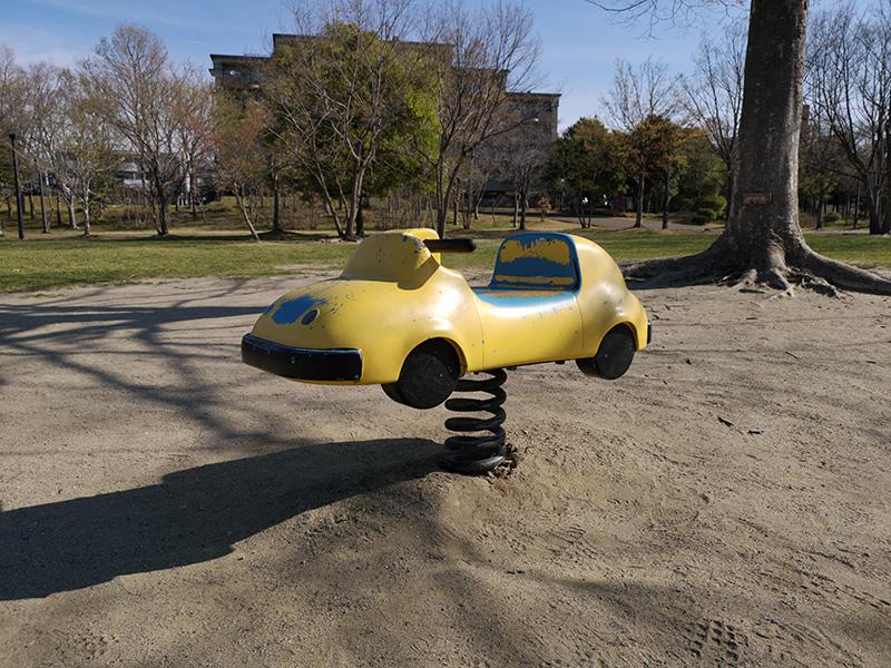 Huawei P20 Proで撮影した公園の遊具
