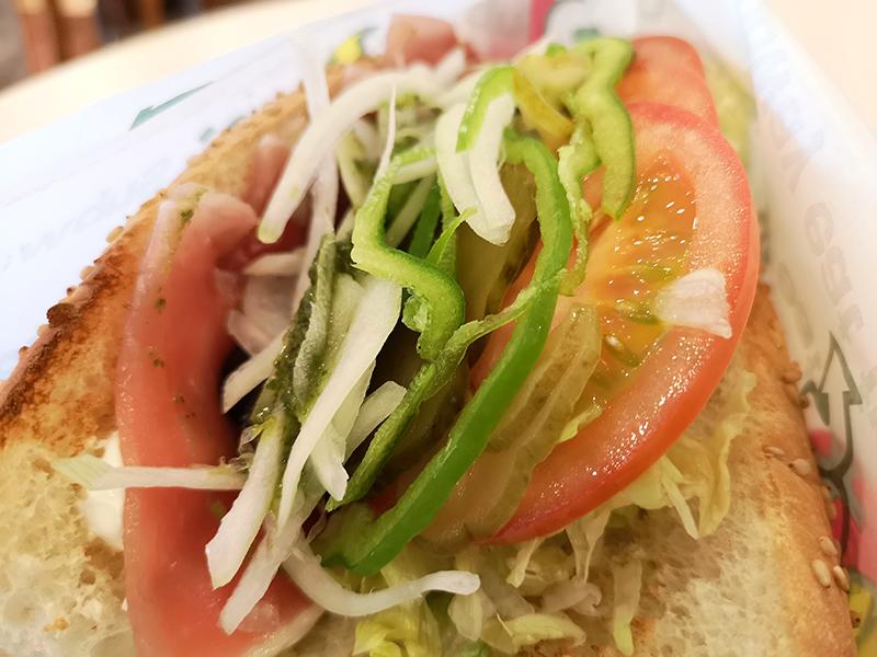 Huawei P20 Proで撮影したサンドイッチ