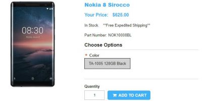1ShopMobile.com Nokia 8 Sirocco 商品ページ