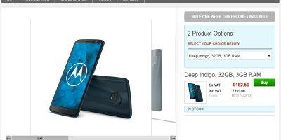 Clove Motorola Moto G6 商品ページ