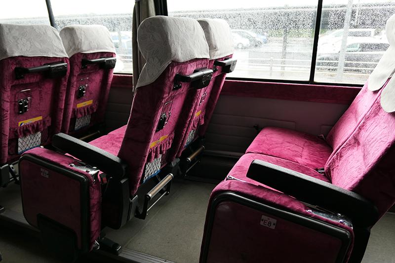 出雲縁結び空港発のバス車内