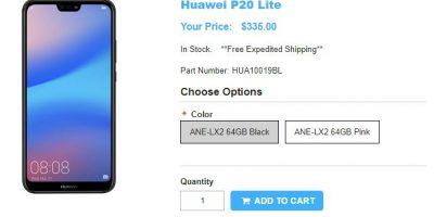 1ShopMobile.com Huawei P20 lite 商品ページ