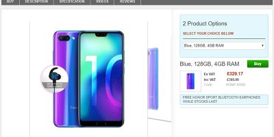 Clove Huawei Honor 10 商品ページ