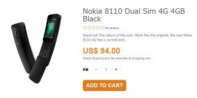 ETOREN Nokia 8810 4G 商品ページ