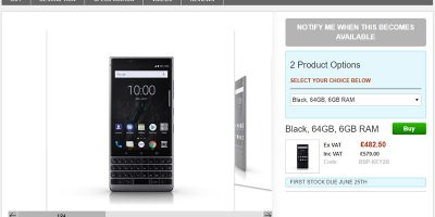 Clove BlackBerry KEY2 商品ページ
