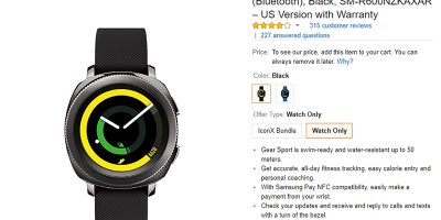 Amazon.com Samsung Gear Sport 商品ページ