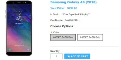 1ShopMobile.com Samsung Galaxy A6 商品ページ