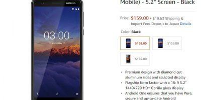 Amazon.com Nokia 3.1 商品ページ