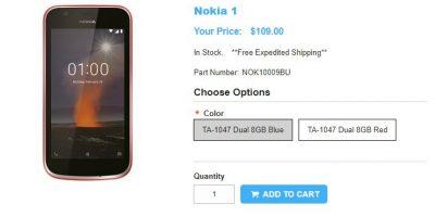 1ShopMobile.com Nokia 1 商品ページ