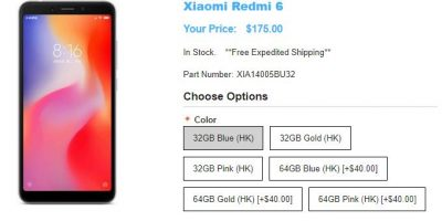 1ShopMobile.com Xiaomi Redmi 6 商品ページ