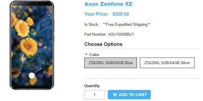 1ShopMobile.com ASUS ZenFone 5Z 商品ページ