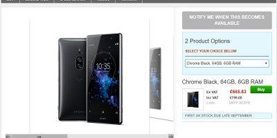 Clove Sony Xperia XZ2 Premium 商品ページ