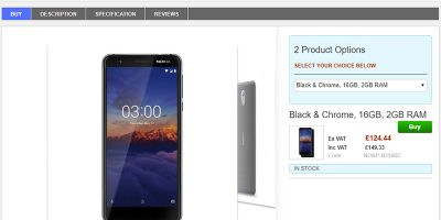 Clove Nokia 3.1 商品ページ