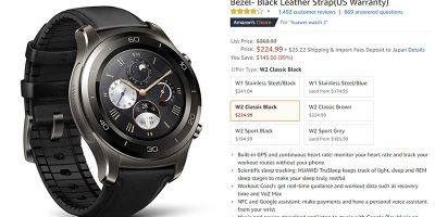 Amazon.com Huawei Watch 2 Classic 商品ページ