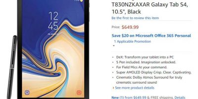 Amazon.com Samsung Galaxy Tab S4 商品ページ