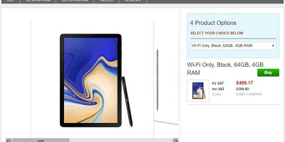 Clove Samsung Galaxy Tab S4 商品ページ