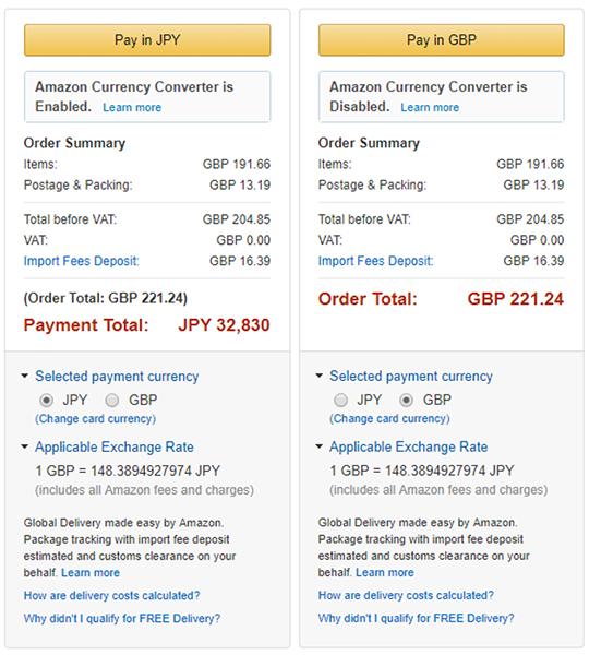 Amazon.co.uk Huawei Watch 2 購入費用