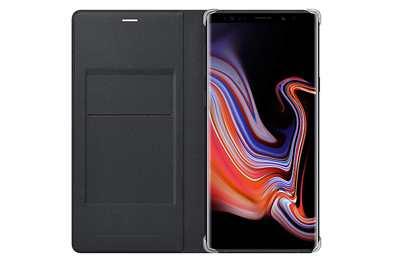 Samsung Galaxy Note9 Lleather Wallet Cover Black