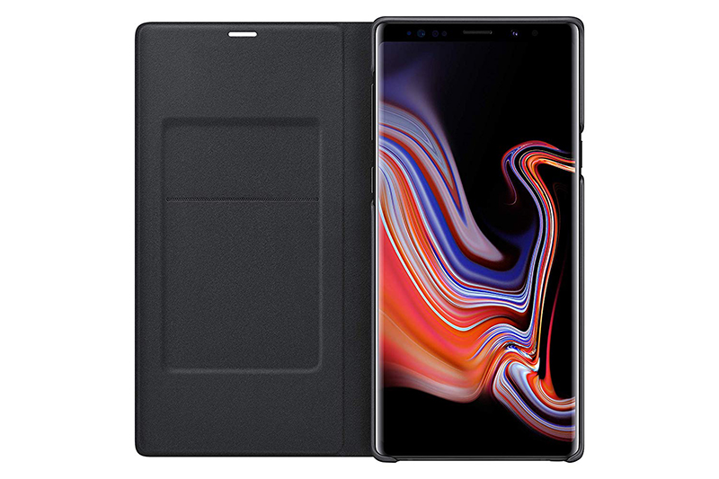 Samsung Galaxy Note9 Led Wallet Cover Black