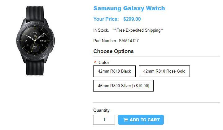 1ShopMobile.com Samsung Galaxy Watch 商品ページ