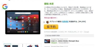 EXPANSYS Google Pixel Slate 商品ページ