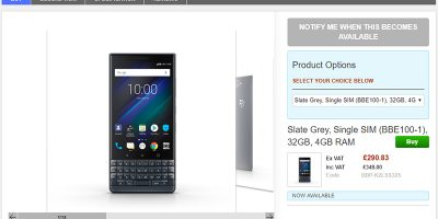 Clove BlackBerry KEY2 LE 商品ページ
