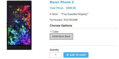 1ShopMobile.com Razer Phone 2 商品ページ