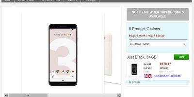 Clove Google Pixel 3 商品ページ