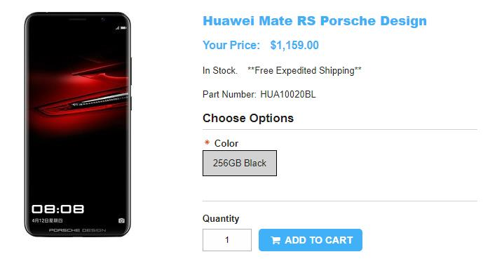 1ShopMobile.com PORSCHE DESIGN HUAWEI Mate RS 商品ページ