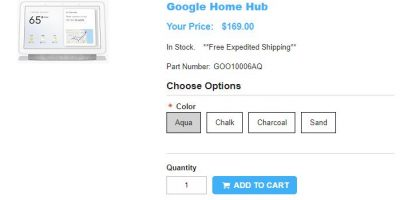 1ShopMobile.com Google Home Hub 商品ページ
