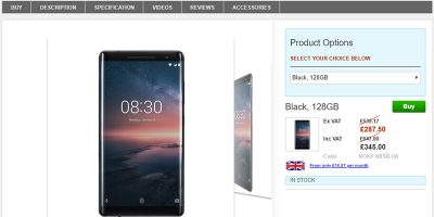 Clove Nokia 8 Sirocco 商品ページ