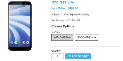 1ShopMobile.com HTC U12 life 商品ページ