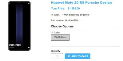 1ShopMobile.com PORSCHE DESIGN HUAWEI Mate 20 RS 商品ページ