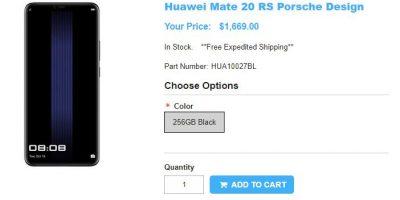 1ShopMobile.com PORSHCE DESIGN HUAWEI Mate 20 RS 商品ページ