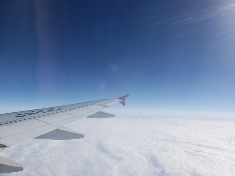 飛行機内からの景色