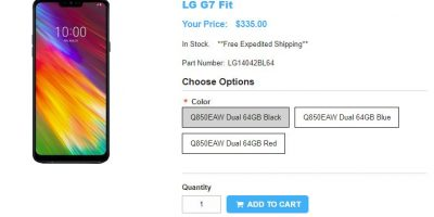 1ShopMobile.com LG G7 Fit 商品ページ