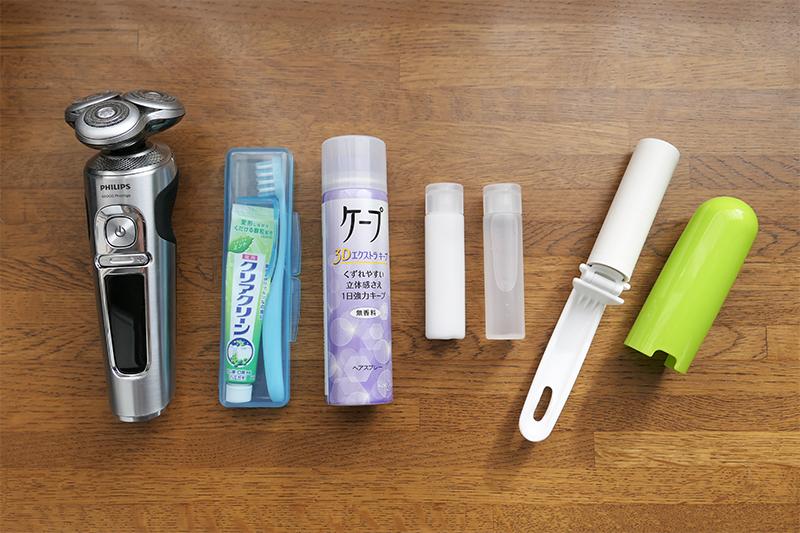 旅行用の洗顔用品