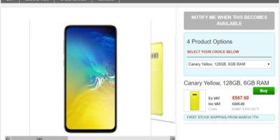 Clove Samsung Galaxy S10e 商品ページ