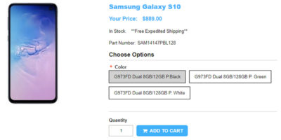 1ShopMobile.com Samsung Galaxy S10 商品ページ