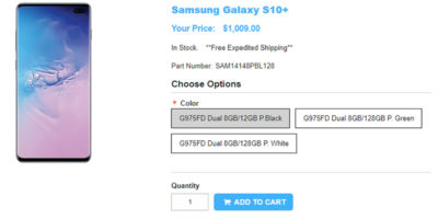 1ShopMobile.com Samsung Galaxy S10+ 商品ページ