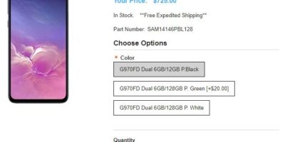 1ShopMobile.com Samsung Galaxy S10e 商品ページ