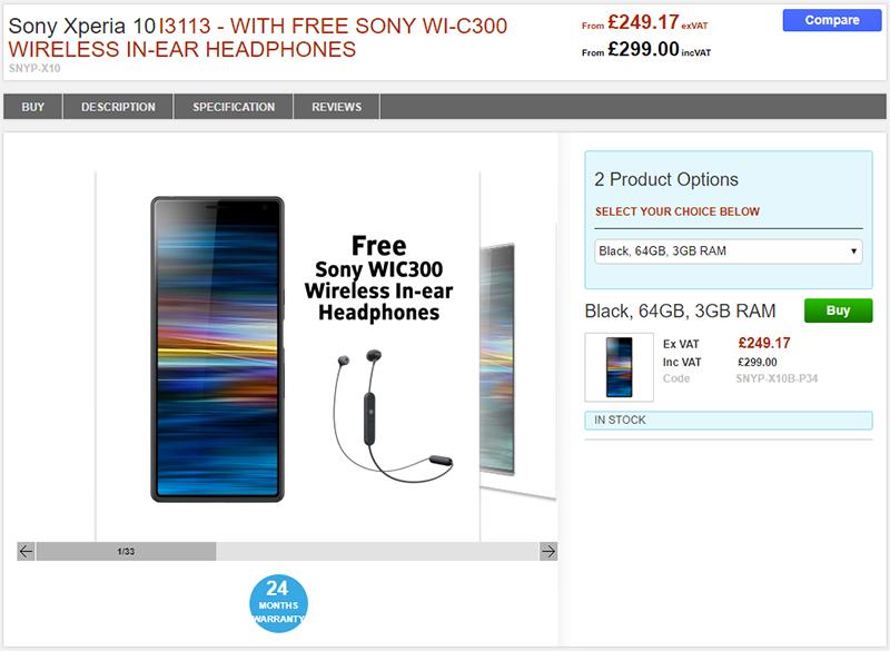 Clove Sony Xperia 10 商品ページ